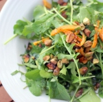 Arugula Salad with Pistachios and Orange inspired by Skye Gyngell