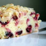 Cranberry Cake with Toasted Almonds