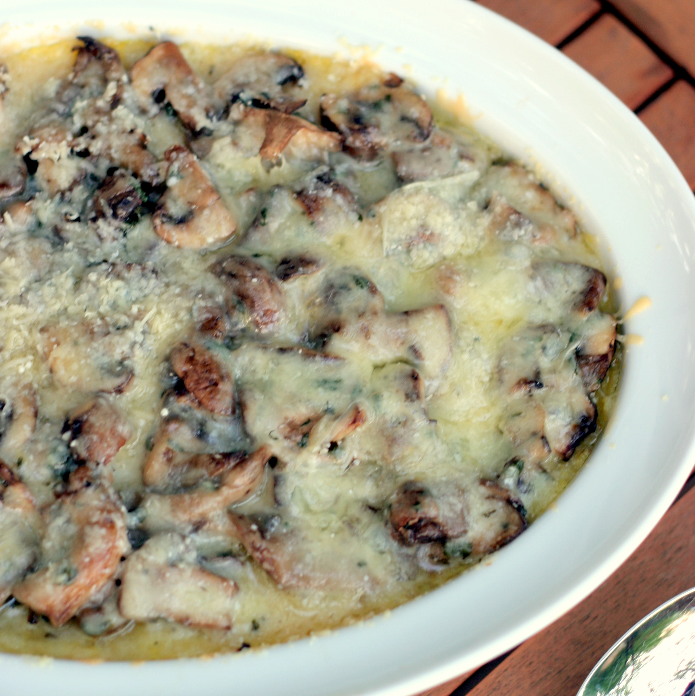 Baked Polenta with Mushrooms | Bob Vivant