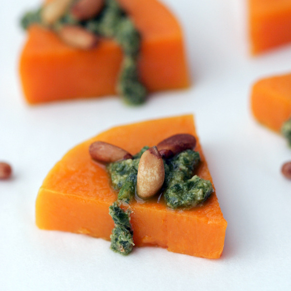 Butternut Squash Pesto Appetizers