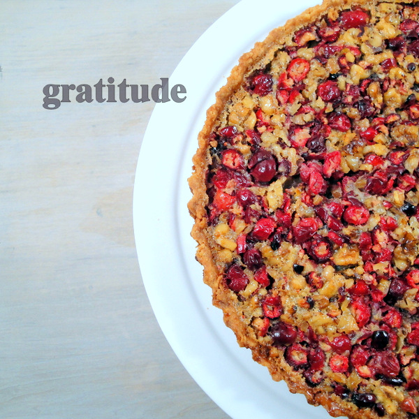 cranberry walnut tart from Gourmet Magazine