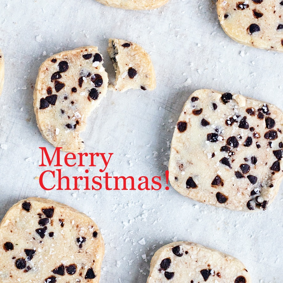 Salted Chocolate Chip Shortbread
