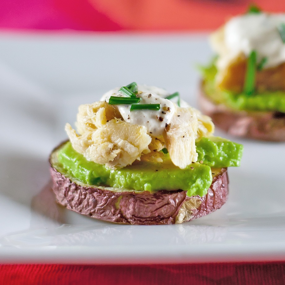 Roasted Potatoes with Smoked Trout and Avocado