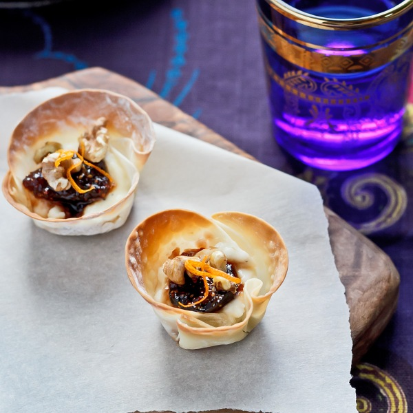 Fig Feta Tartlets with Walnuts