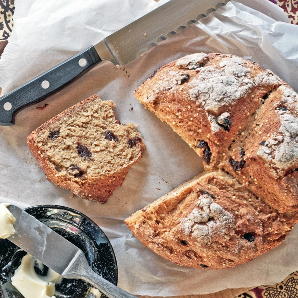 whole wheat tart cherry soda bread