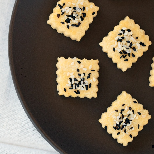 Savory Sesame Sea Salt Shortbread