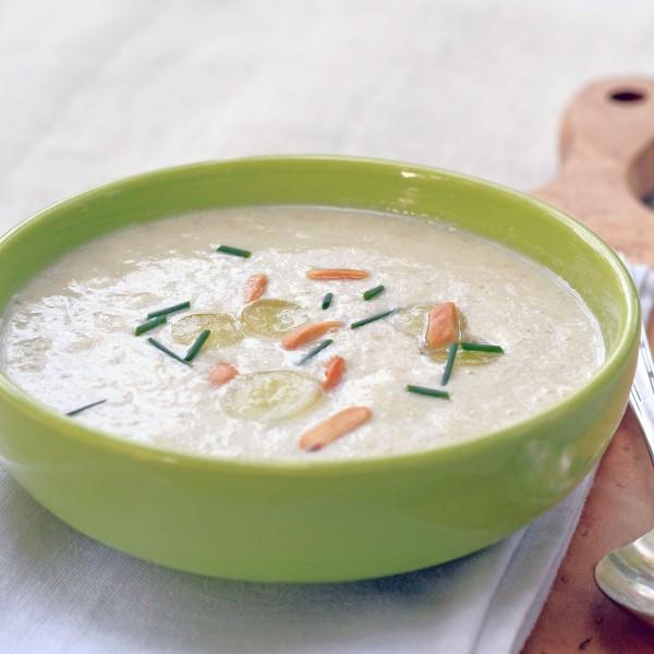 White Gazpacho White Grape and Almond Soup