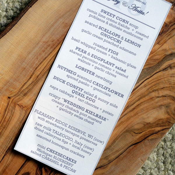 Summer Dinner Menu from Conscious Crumbs